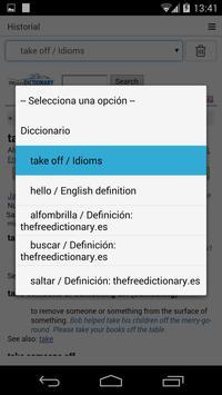 Free Spanish Dictionary apk screenshot