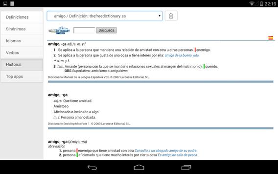 Free Spanish Dictionaries apk screenshot