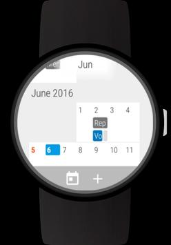 Calendar for Wear OS (Android Wear) poster