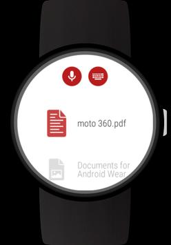 Documents for Wear OS (Android Wear) apk screenshot