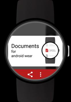 Documents for Android Wear apk screenshot