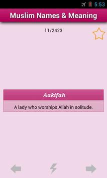 Muslim Baby Names and Meaning! apk screenshot