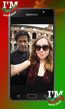 PTI Flag Face Sticker - Selfie with Imran Khan poster