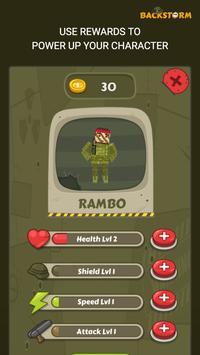 Backstorm Rambo Endless Runner screenshot 3