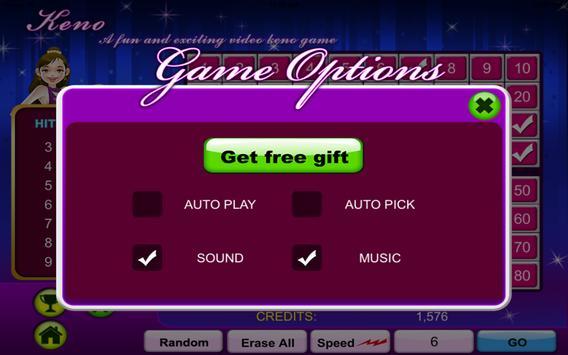 Keno Gold Casino-Land Free screenshot 2