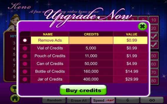 Keno Gold Casino-Land Free apk screenshot