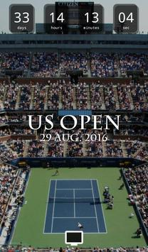 Countdown for US Open poster
