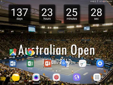 Countdown for Australian Open screenshot 2