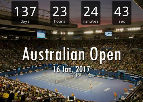 Countdown for Australian Open poster