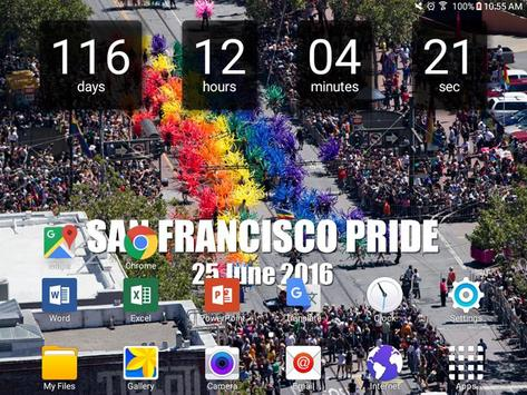 SF Gay Pride Countdown apk screenshot