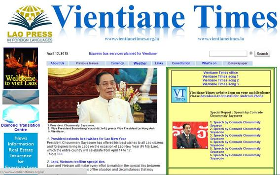 Vientiane Times apk screenshot