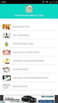 Homemade Beauty Tips screenshot 1