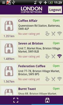 London Coffee Network screenshot 4
