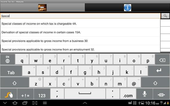 Income Tax Act of Malaysia screenshot 1