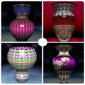 Pottery Design With Colour icon