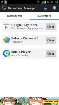 Default App Manager captura de pantalla 1