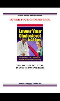 Lower Cholestrol in 33 Days poster