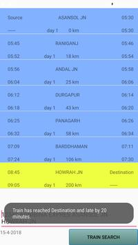 Indian rail live status, train route, stations apk screenshot
