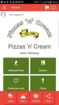 Pizzas n Cream Bray poster