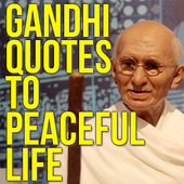 Gandhi Quotes to Peaceful Life icon