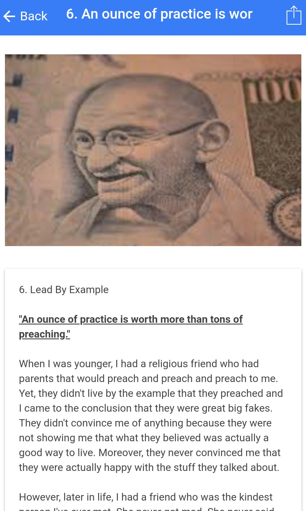 Gandhi Quotes to Peaceful Life poster