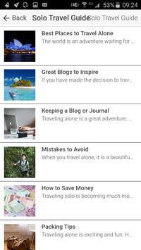 Solo Travel Guide screenshot 1