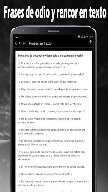 Frases De Odio Y Rencor En Imagenes Für Android Apk