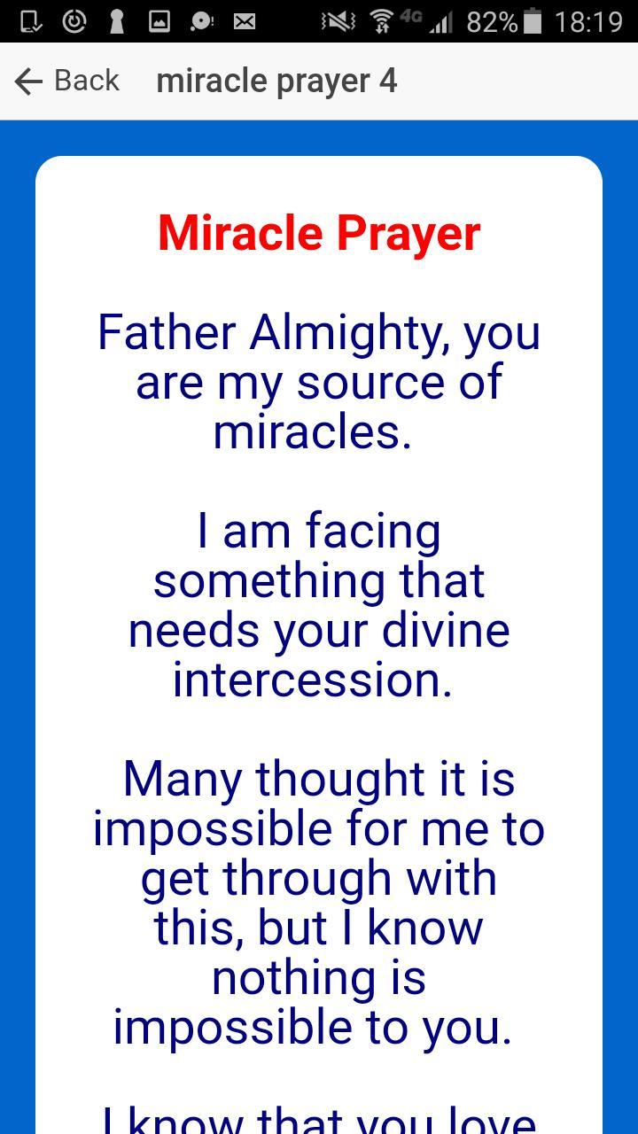 Miracle Prayer for Android - APK Download
