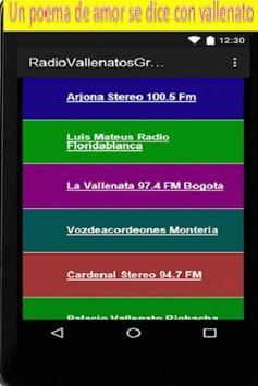 Radio Vallenatos Gratis Online apk screenshot