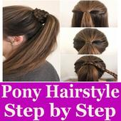 Ponytail Hairstyle Step By Step Videos icon