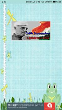 Chacha Nehru Children's Day Quotes and Messages poster