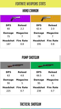 Weapons Stats For Fortnite скриншот 1