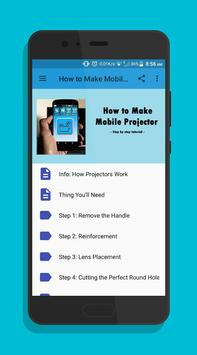 How to Make Mobile Projector poster