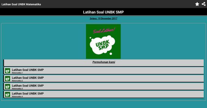 UNBK SMP 2018 Soal Latihan Lengkap dengan Kunci screenshot 16