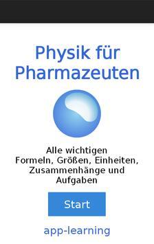 Physik für Pharmazeuten poster