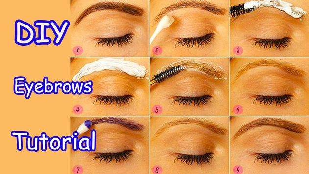 Perfect Eyebrows Make Up Tips poster