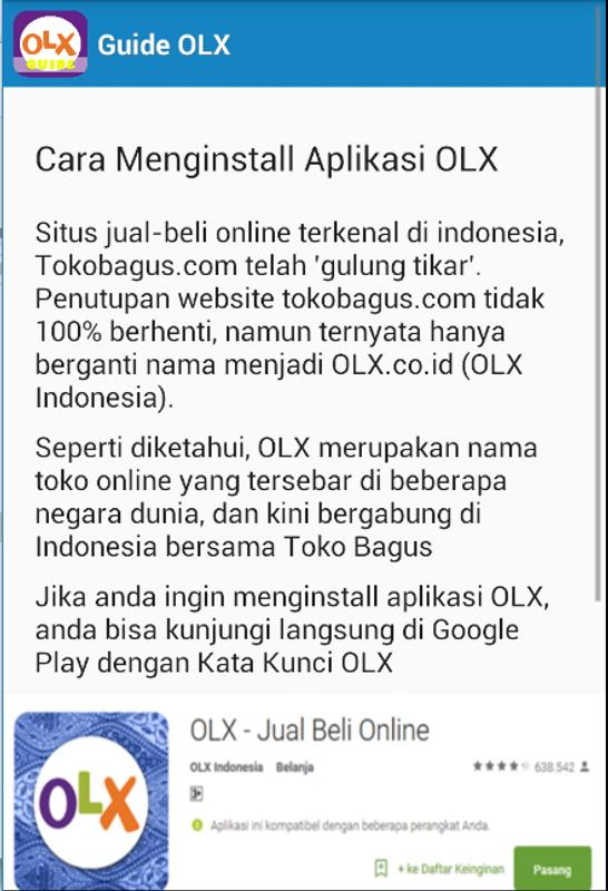 Olx Panduan Terbaru For Android Apk Download