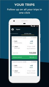 VYOM Supply – Find full truck loads at best rates apk screenshot