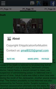 Biography of Muhammad Al Fateh apk screenshot