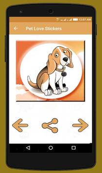 Pet Love Stickers screenshot 1