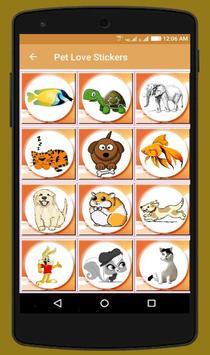Pet Love Stickers screenshot 2