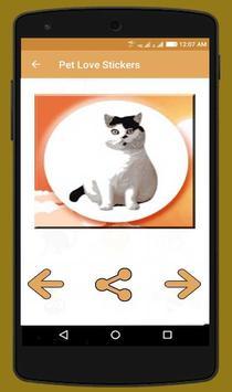 Pet Love Stickers screenshot 3