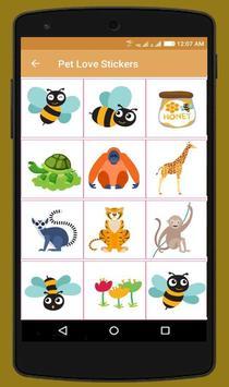 Pet Love Stickers screenshot 4