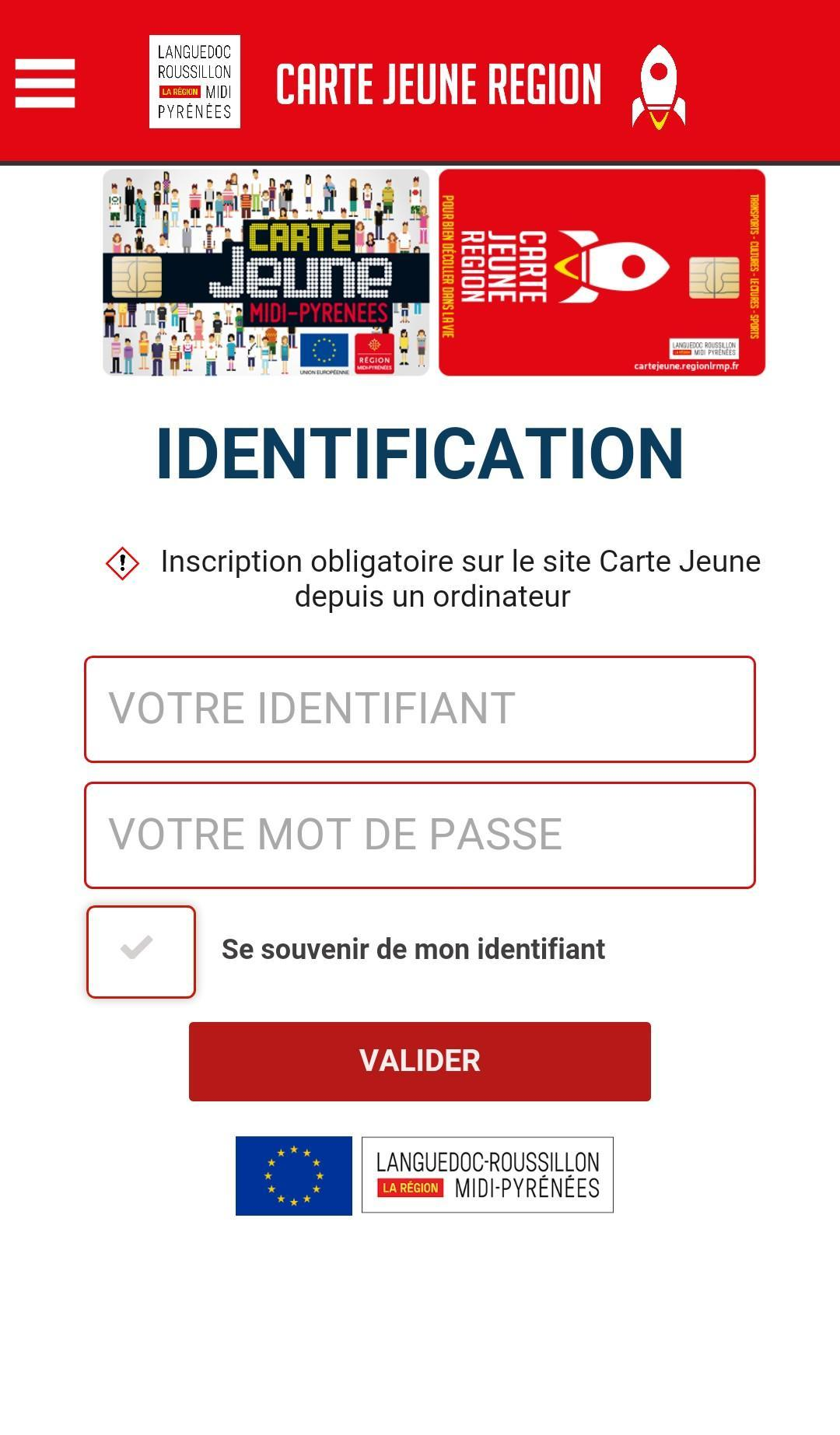 carte jeune region languedoc roussillon Carte Jeune Région for Android   APK Download