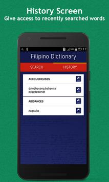 Filipino Dictionary apk screenshot