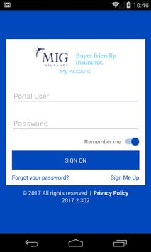 MIG Insurance - My Account poster