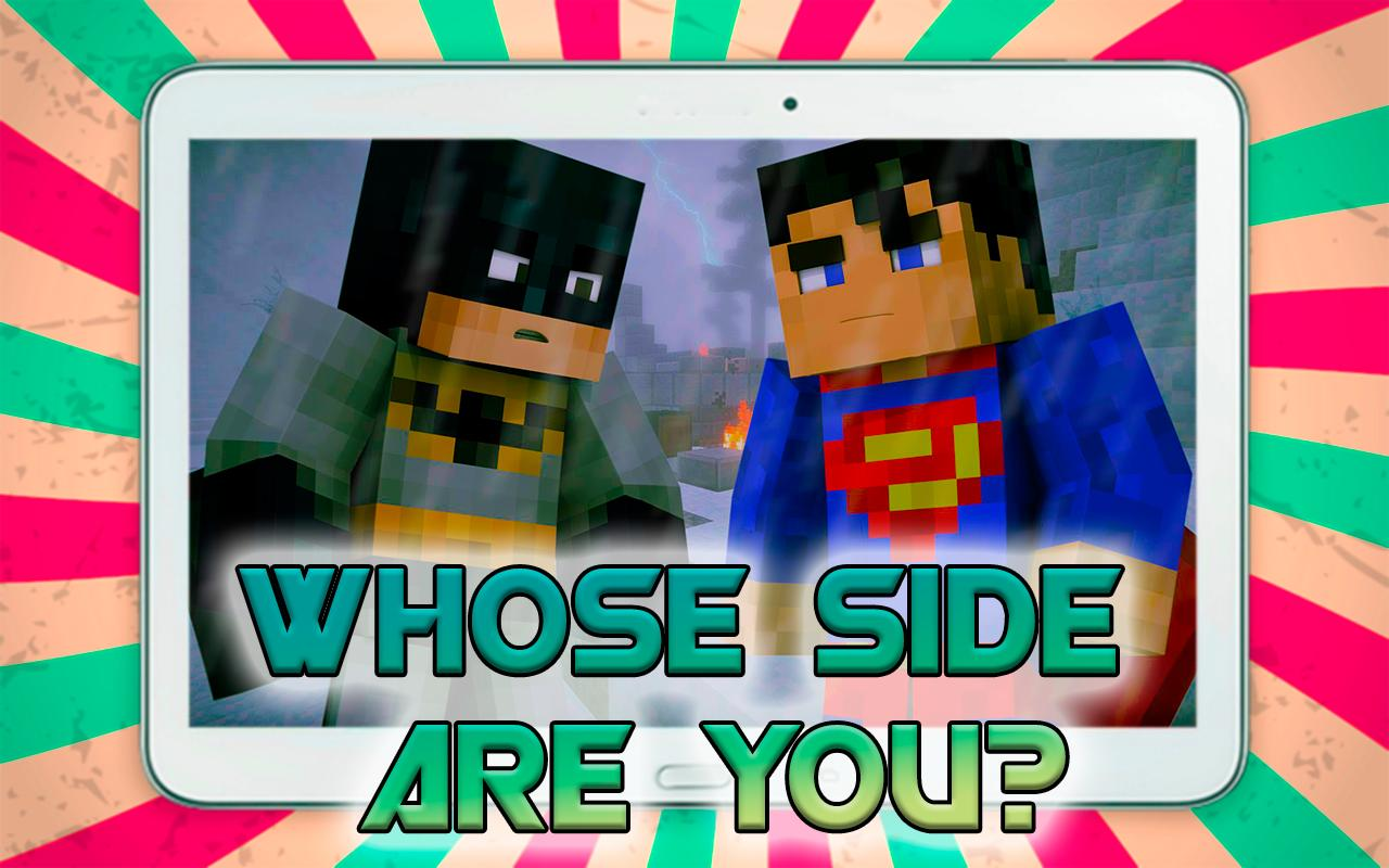 Skins Batman Vs Superman MC PE APK Download Free Entertainment APP - Skins para minecraft pe de batman