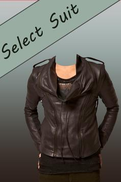 Leather Coat Man Photo Suit poster