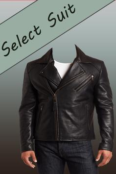 Leather Coat Man Photo Suit apk screenshot
