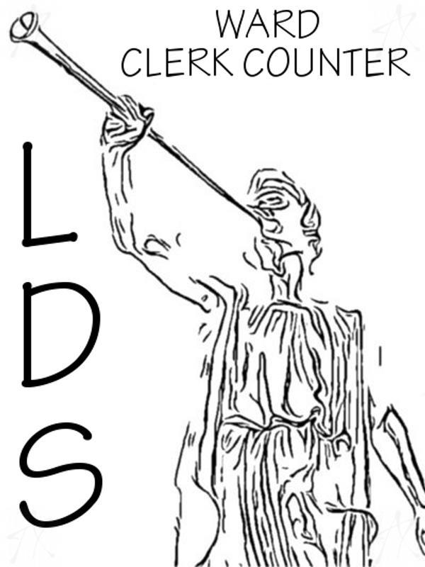 LDS Ward Clerk Counter Poster